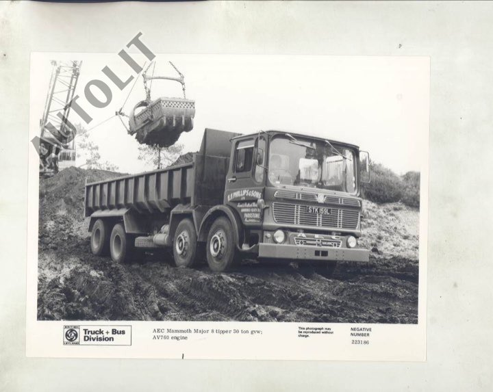 1968 AEC Major 30 Ton Construction Dump Truck ORIGINAL Factory Photo