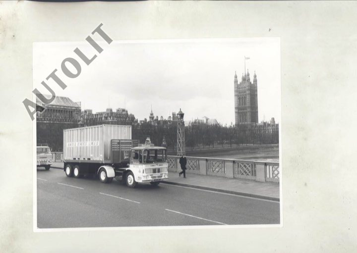 1968 AEC Southall Beefeater Gin Truck LondonBridge ORIGINAL Factory Photo