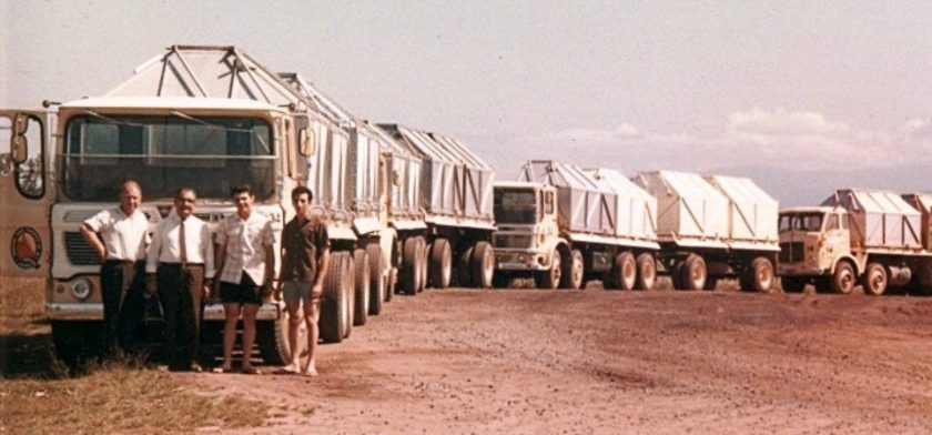 1968 Johnston River Transport Had A Fleet Of Aec Mammoths And Mandators At Mourilyan Nth Qld In 1968