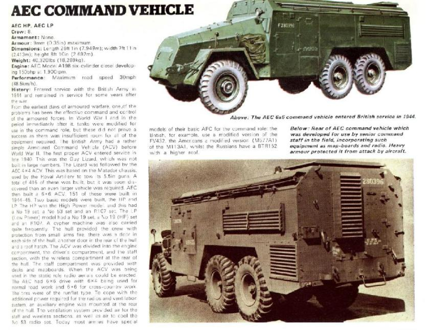 AEC 6x6 Armoured Command Vehicle