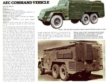 AEC 6x6 Armoured Command Vehicle
