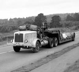 AEC Heavy haulage Man on trailer looks grumpy. Maybe he wasn't allowed to drive