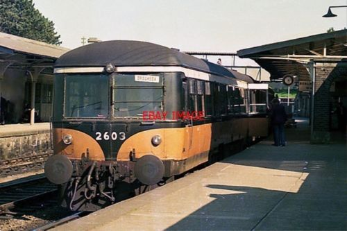 AEC Railcar unit 2603 at Drogheda by 1975 Cié's AEC-Park Royal vehicle builder