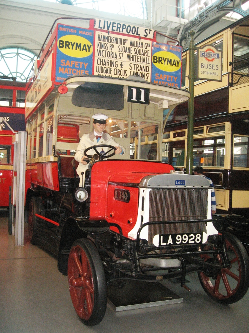 LGOC B-Type bus B340 London Transport Museum