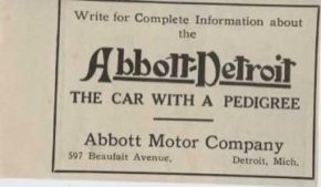 1910 Abbott Detroit Car Detroit MI Auto Ad Flash Decarbonizer ma4670-p