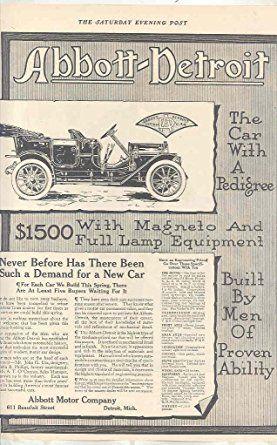 1910 Abbott-Detroit Motor Company Ads