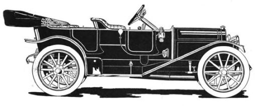 1911 Abbott-Detroit four-door demi tonneau