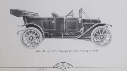 1911 Abbott Detroit Motor Co 30 - 5 Passenger car
