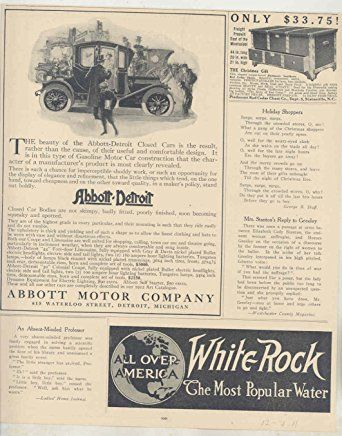 1911 Abbott-Detroit Motor Company Ads