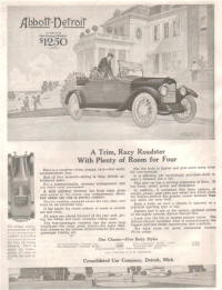 1912 Abbott-Detroit Detroit, Michigan Advertising b 1912