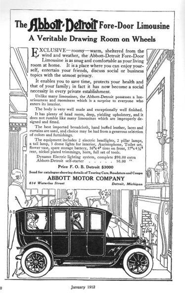 1912 Abbott-Detroit Limo a