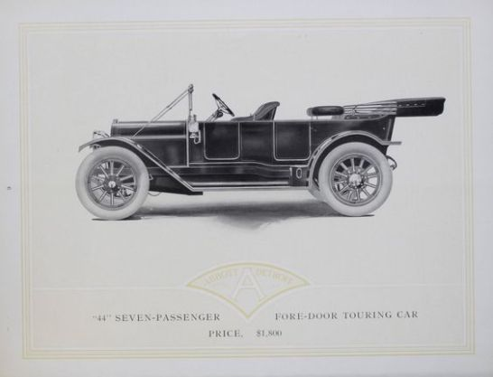 1912 Abbott Detroit Motor Cars 44 7 passenger 0,5 ton car
