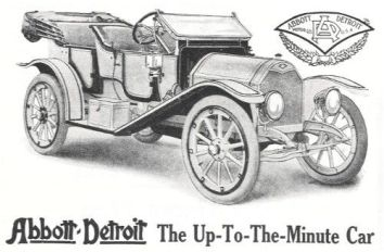 1912 Abbott-Detroit Two Passenger Roadster a