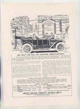 1913 Abbott-Detroit Motor Company Ads