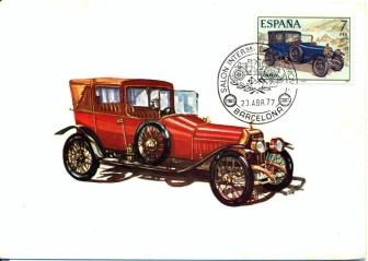 1914 ABADAL - 1977 SPAIN MAXIMUM CARD