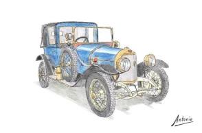 1914 Abadal 45 HP Landaulet
