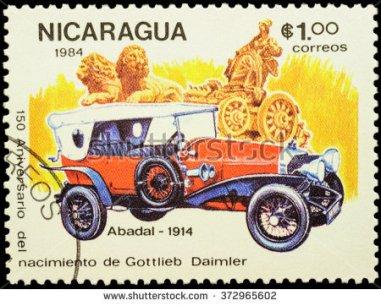 1914 Abadal stamp printed in nicaragua