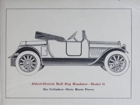 1914 Abbott-Detroit Bull Dog Roadstar Model G 6cyl 60hp