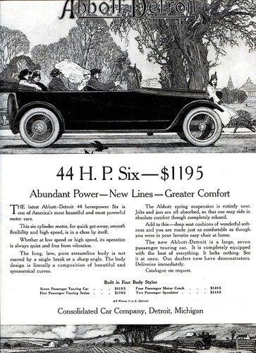 1916 Abbott-Detroit Motor Company Ads