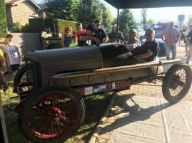 1917 A.Zanini-C.Beltrán, con el Abadal Buick, preparados para la subida