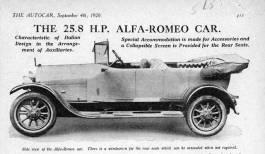 1920 alfa romeo 258hp