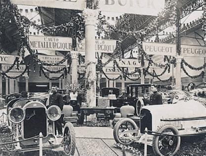 1923 vista del stand buick en lae xposicion de barcelona de1923