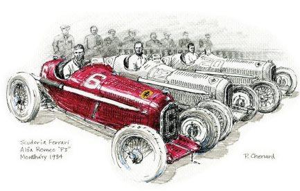 1934 Alfa Romeo P3 Montéry P Chenard