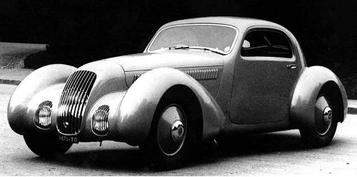 1935 Alfa romeo coupe aerodynamico
