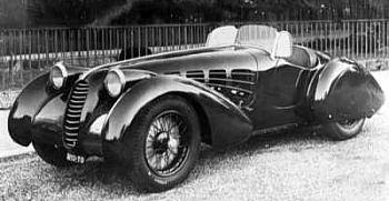 1937 Alfa romeo 8c2900b spider zagato
