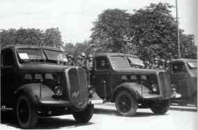 1939 Alfa Romeo 500 - Alfa Romeo 500 military version during a parade in Turin, August 8, 1939