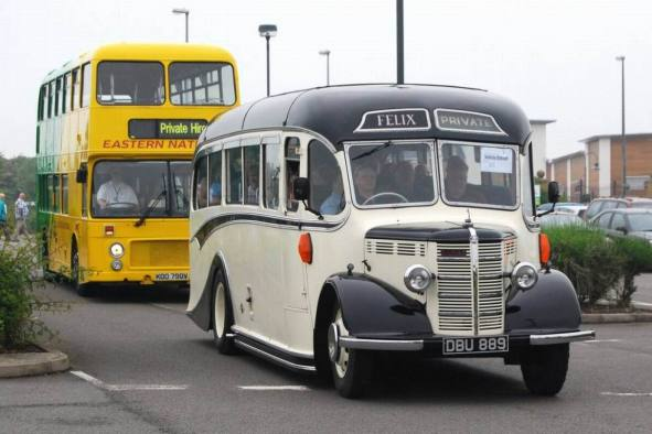 1947 Bedford OB DBU889 with Duple C27F body