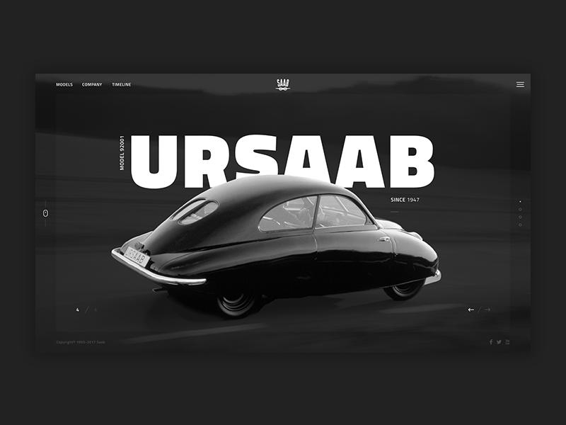 1947 saab-ursaab dribbble