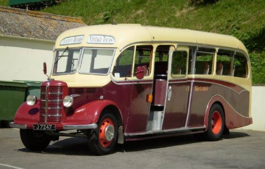 1948 Bedford OB Duple is run by Tantivy Motors Jersey