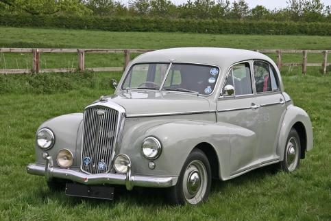 Wolseley 4/50. Launched at the 1948 Motor Show as a variant of the Morris Oxford MO, the Wolseley 4/50 used a 4-cylinder 1476cc version of its sibling's 6-cylinder ohc engine
