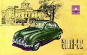 1949 Saab 92 brochure by Ted Sluymer