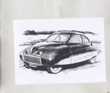 1949 Saab Urosaab 92001 Prototype ORIGINAL Factory Photograph wy6135