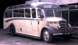1950 Bedford OB (LTA 749), originally No.1410 with Western National
