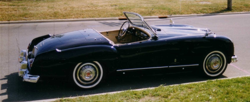 1951-1954 Nash-Healey roadster black