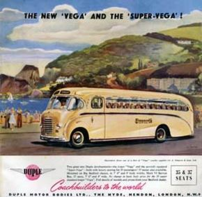 1952 Bedford Duple Vega Ad