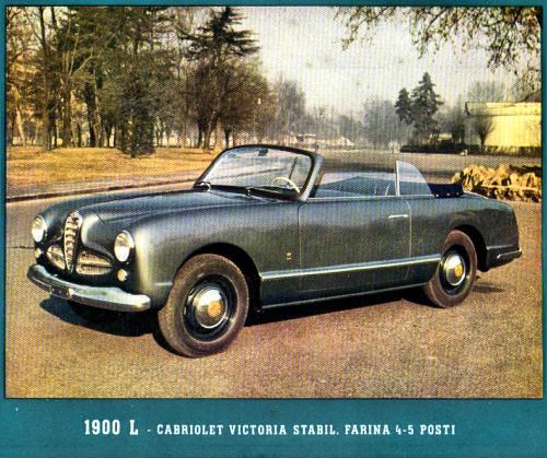 1953 1900 L Cabriolet Victoria Stabilimenti Farina