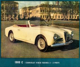 1953 Alfa Romeo Coupé Touring (wb. 2500 mm) Cabriolet Pinin Farina (wb. 2500 mm) Cabriolet Stabilimenti Farina (wb. 2500 mm) (4 cyl, 1884 cm³, 100 KM)