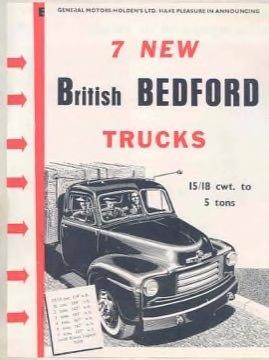 1953 Bedford 15-18cwt thru 5 Ton Truck Brochure Australia