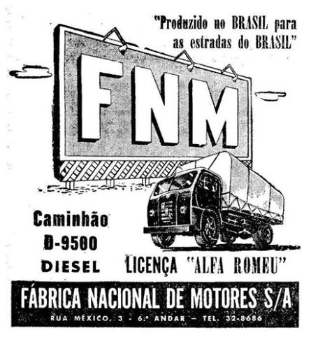 1953 fnm 6a Anúncio de jornal de 1953