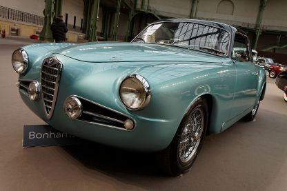1954 Alfa Romeo 1900 C Super Sprint Touring, passo corto, motore di cilindrata 1.975 cm3 e cambio a 5 rapporti