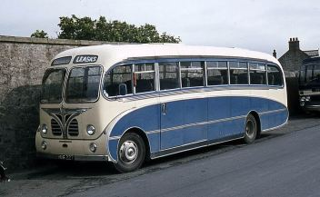 1956 Bedford SBG with Burlingham Seagull C35F bodywork.