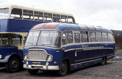 1958 Bedford SB with Duple Super Vega C37F bodywork.