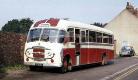 1958 Bedford SB3 with Plaxton C41F bodywork.
