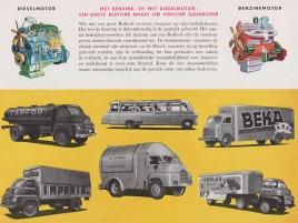 1958 BEDFORD Truck Dealer Brochure Model SSC, SLC, SA en SB (Holland 1958)