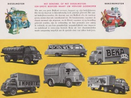 1958 BEDFORD Truck Dealer Brochure Model SSC, SLC, SA en SB (Holland 1958)