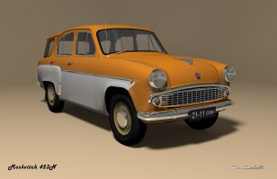 1958 Moskvitch 423N orange white